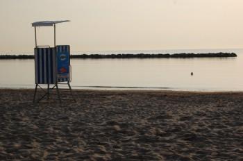 Spiaggia solitaria della Riviera Adriatica